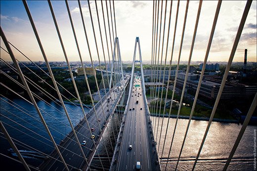 Отзыв с объекта: Светильник GALAD Волна 2 ДКУ04 на Большом Обуховском мосту в Санкт-Петербурге