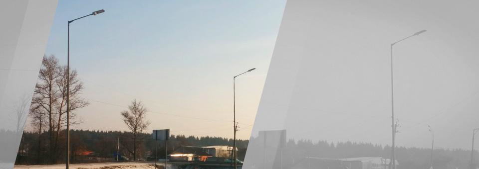 Светодиодное освещение Киевского шоссе от ТМ GALAD